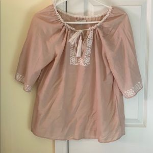 Light pink top with tassels